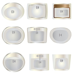 Bathroom  wash basin top view set 10 for interior vector