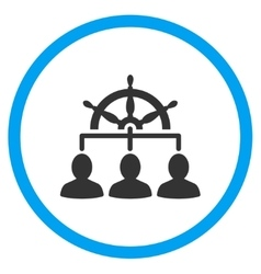 Staff management circled icon vector