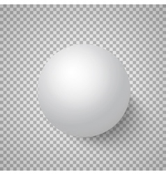 Photorealistic 3d ball template bright vector