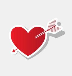 arrow heart sign new year reddish icon vector image vector image