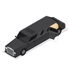 Black Limousine Luxury Vip Car Isometric View vector image