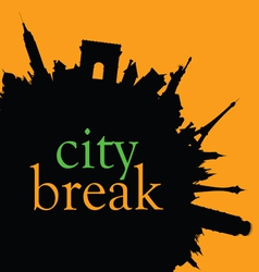 city break color vector image vector image