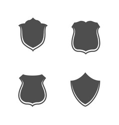 collection of blank shields for web vector image