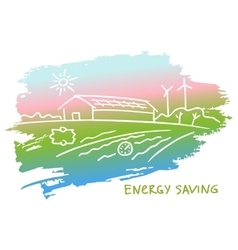 energy-efficient construction vector image