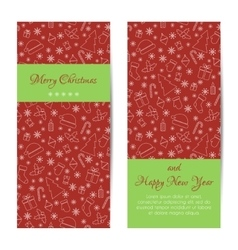 Greeting card banner or brochure for christmas vector