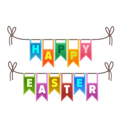 Happy easter congratulation sign vector