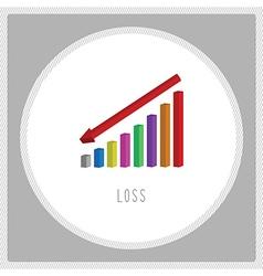 Loss chart6 vector image