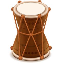 Mridangam indian double wooden drum vector