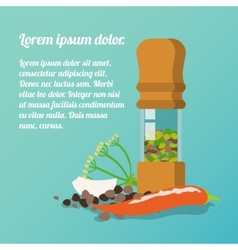 Pepper mill poster vector
