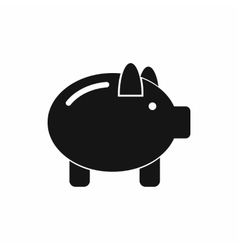 Piggy bank icon simple style vector