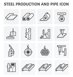 Pipe production icon vector