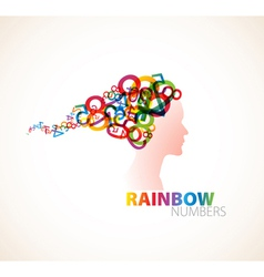 rainbow numbers vector image