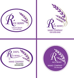 Rice berry logo for corporate identity logo vector