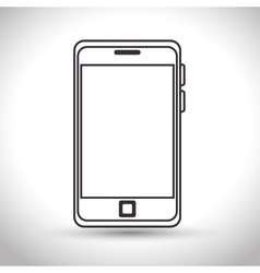 silhouette smartphone technology white background vector image