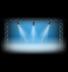 Spotlights on the exposition stage vector