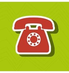 telephone icon design vector image vector image