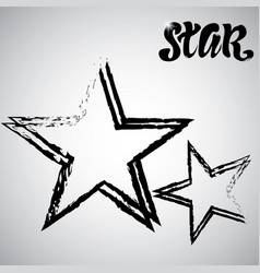 textured star used for stamps banners star icon vector image