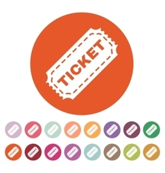 The ticket icon Ticket symbol Flat vector image vector image