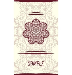 Vertical wedding card with ornate mandala floral vector