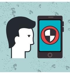 Smartphone app silhouette vector