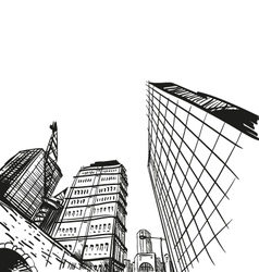 Hand drawn cityscape vector