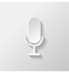 Microphone icon sound recording vector