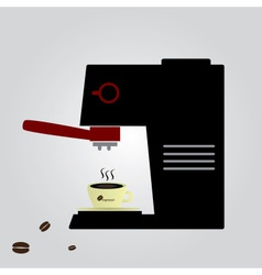 espresso machine eps10 vector image