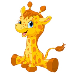 Cute giraffe calf vector