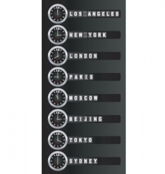 timezone clock vector image