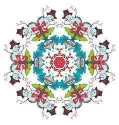Christmas festive snowflake vector
