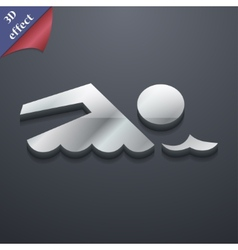 Swimming icon symbol 3d style trendy modern design vector