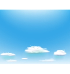 Blue sky with clouds vector