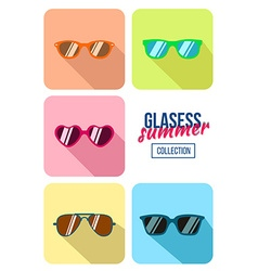 Hipster sunglasses vector