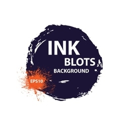 Ink blots background vector