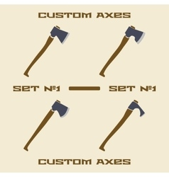 Different axe types icon set design template vector