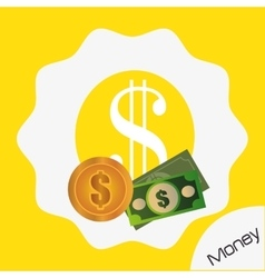Money and electronic payment vector