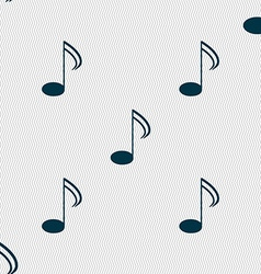 Music note sign icon musical symbol seamless vector