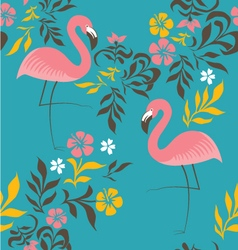 Flamingo pattern vector image