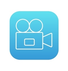Video camera line icon vector