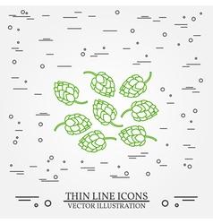 Hops thin line design hops pen icon hops pen icon vector