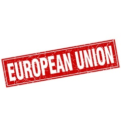 European union red square grunge vintage isolated vector