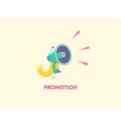 Megaphone icon marketing promotion concept vector