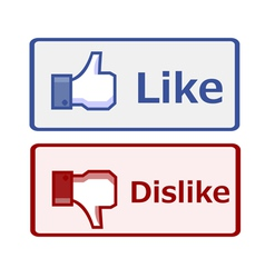 Like and dislike button vector image