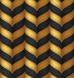 Abstract black and gold seamless background vector image