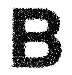 Alphabet b vector