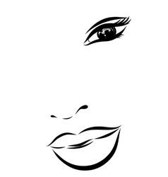 Beautiful fashion woman portrait for make up on vector image vector image