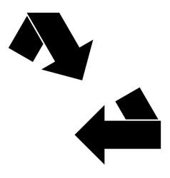 Black corner arrow and arrows icon vector