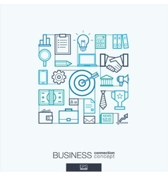 Business integrated thin line symbols Modern vector image vector image