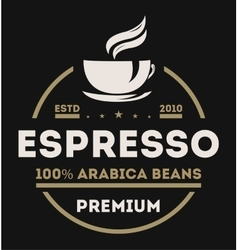 Coffee shop vintage isolated label logo vector