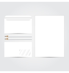 Corporate identity template set blank business vector